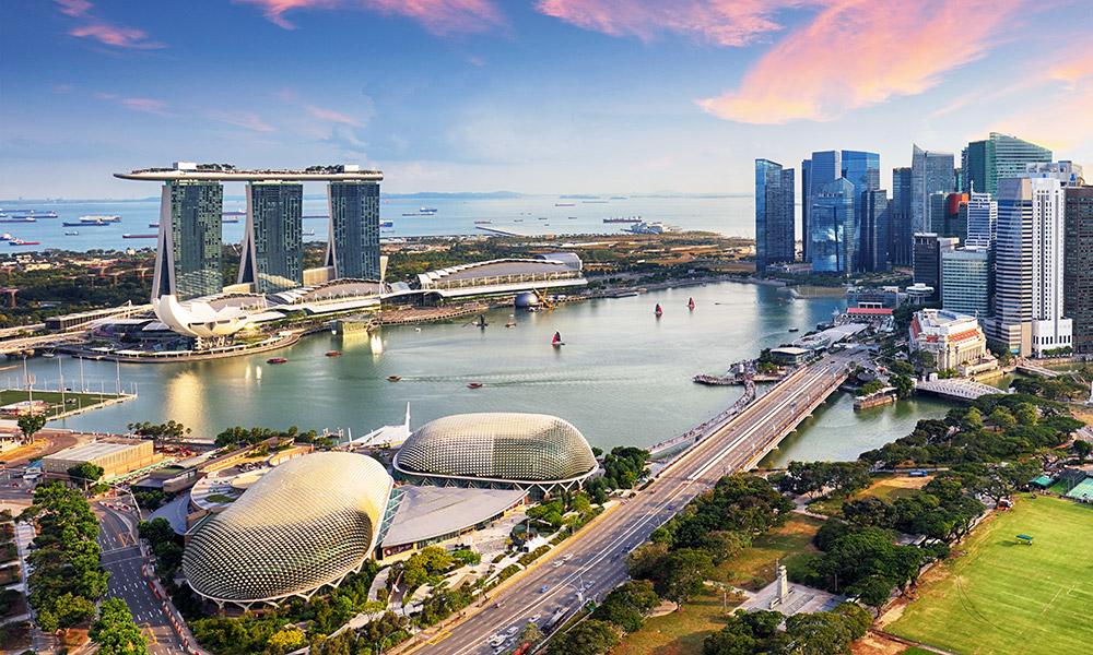 The amazing Singapore skyline