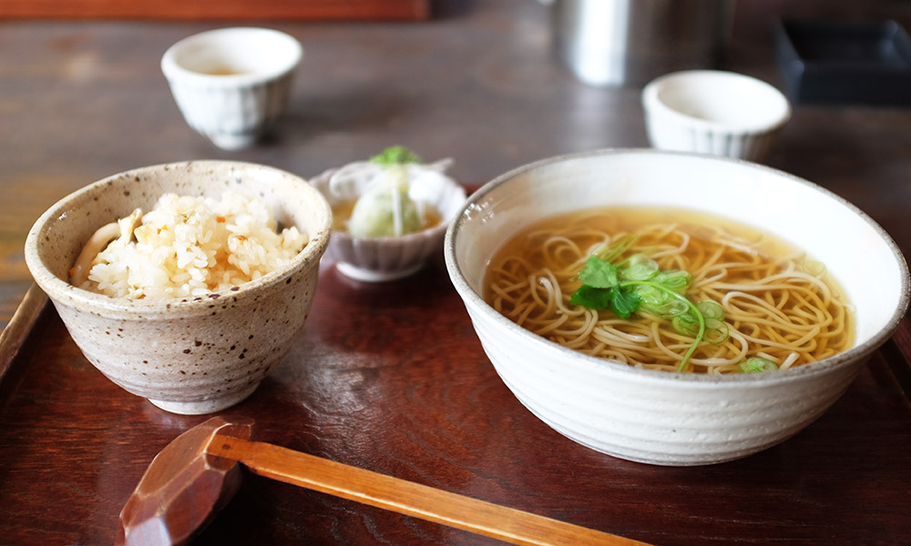 Delicious Japanese soba noodles