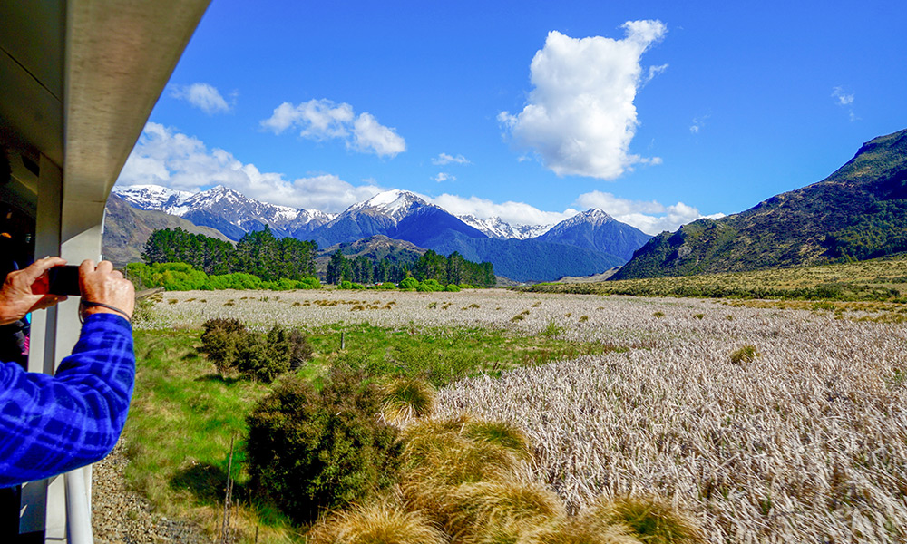 The view from the TranzAlpine Train