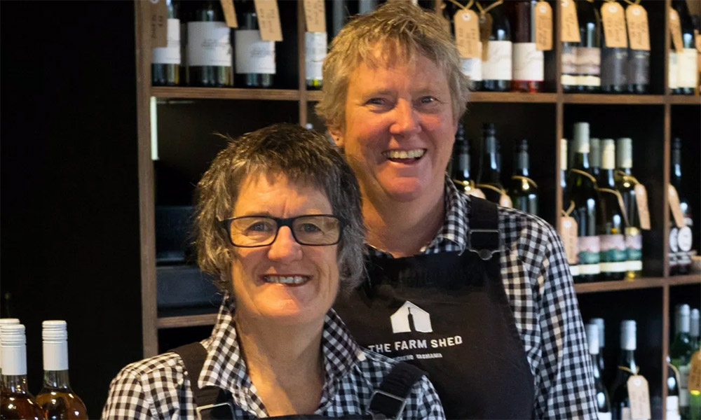Subi Mead and Helen Bain from The Farm Shed